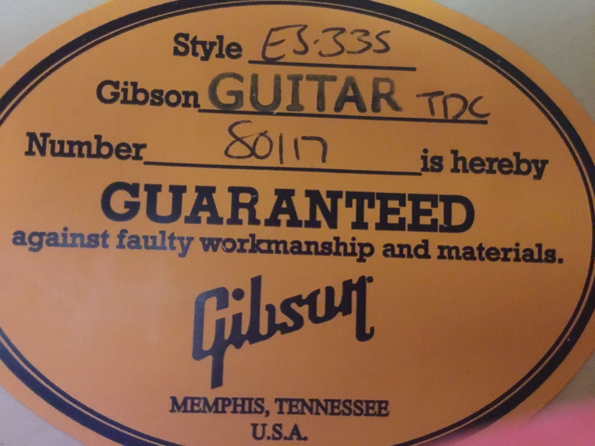 Gibson ES-335 1963 Bigsbyのケース・その他画像