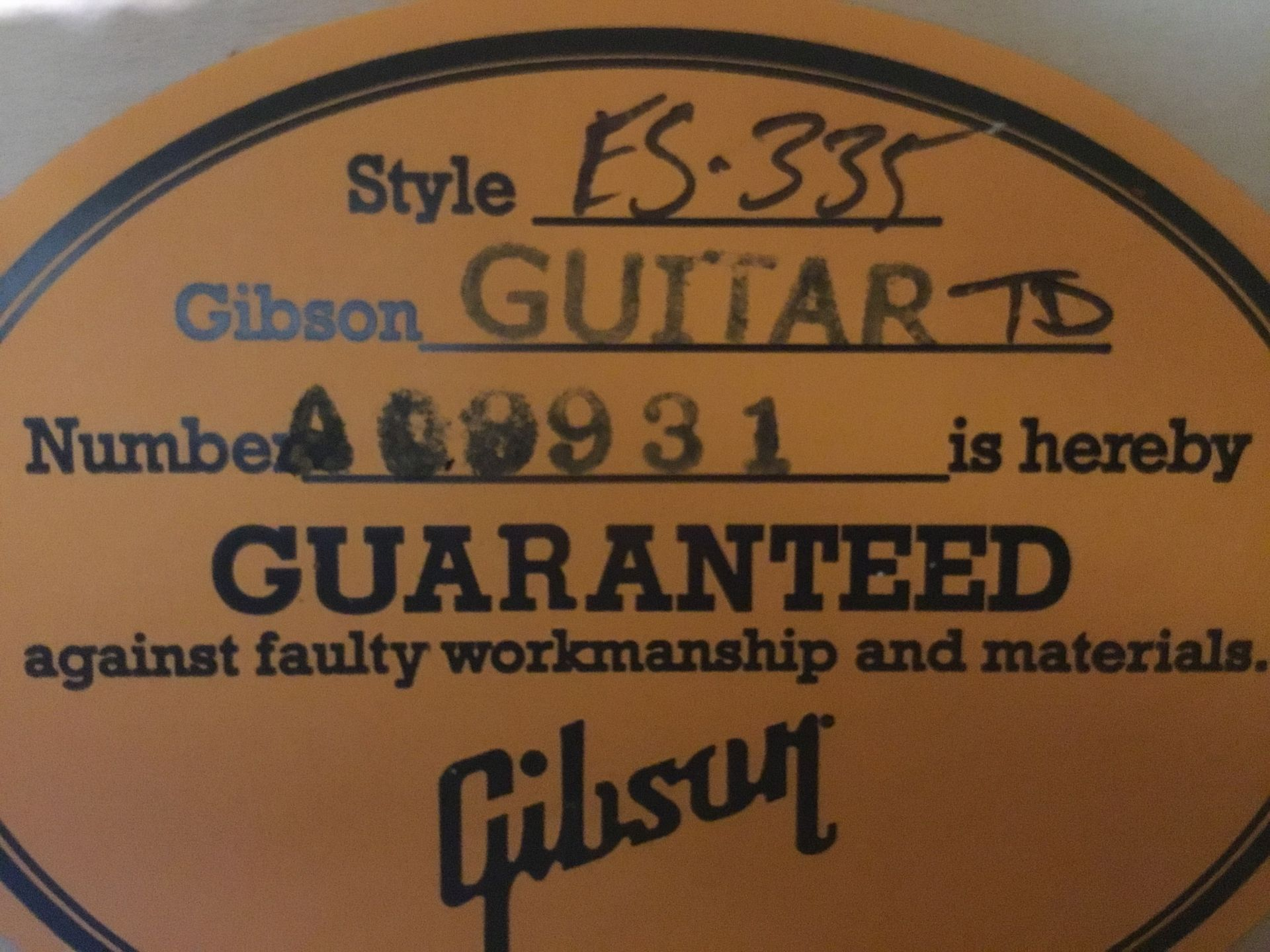 Gibson 59ES-335 kalamazooのケース・その他画像