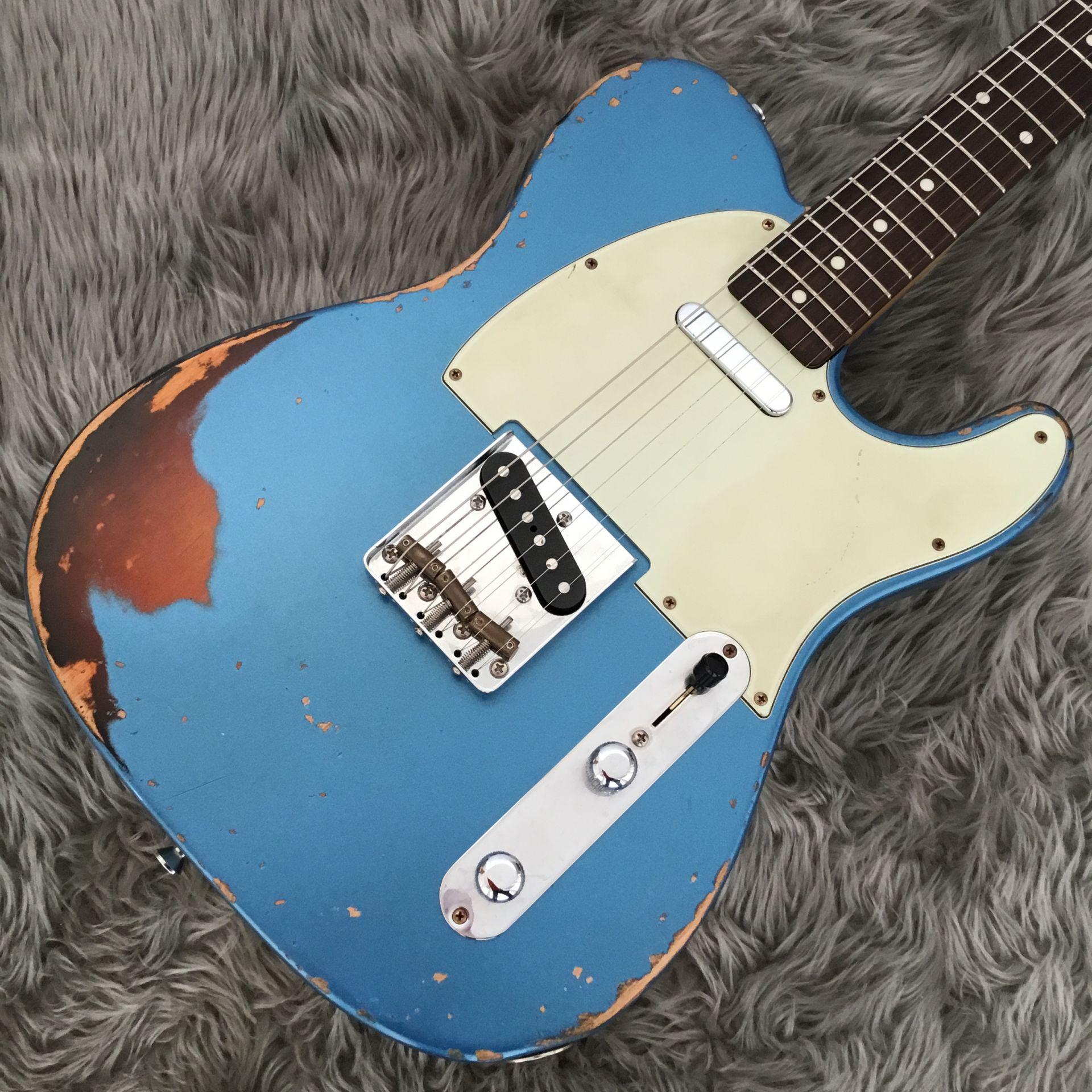 T-Model Lake Placid Blue over 3 Tone Sunburst