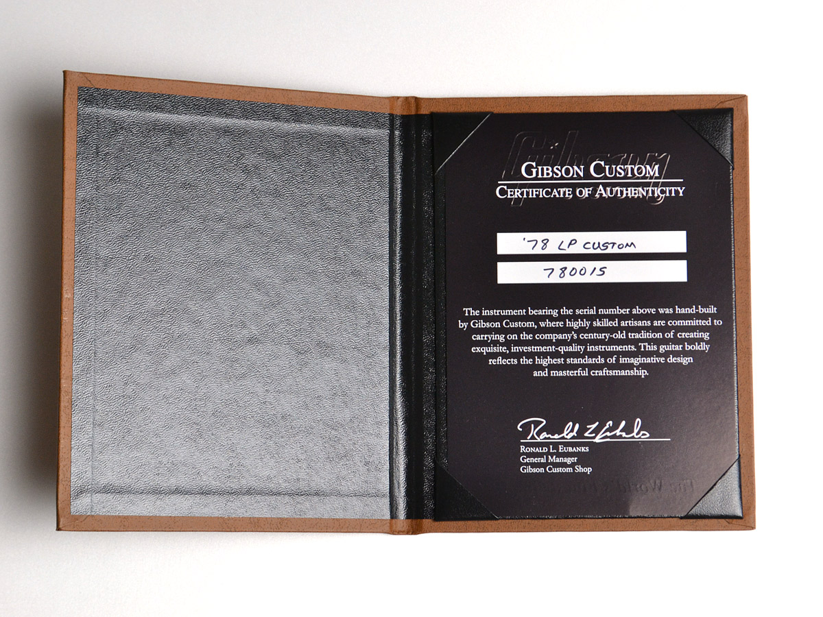 1978 Les Paul Custom VOSのケース・その他画像