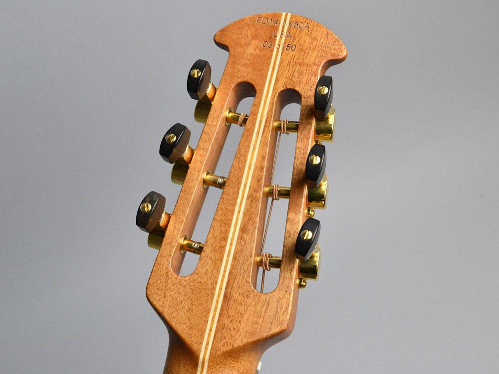 Ovation 50th Anniversary Folklore FD14AV50-4/Natural エレアコギター 【オベーション】【ビビット南船橋店】【アウトレット】のヘッド裏-アップ画像