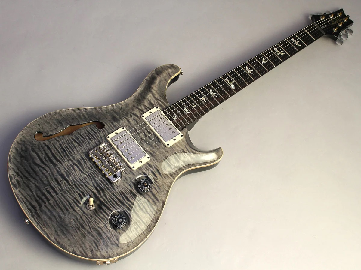 Wood Library Custom24 Semi Hollow 10Top Faded Gray Black 【S/N:244526】