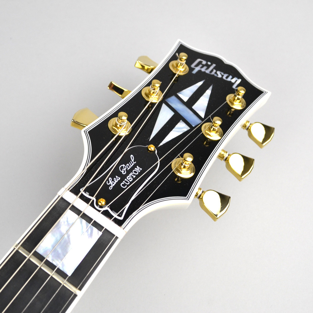Les Paul Custom Alpine Whiteのヘッド画像