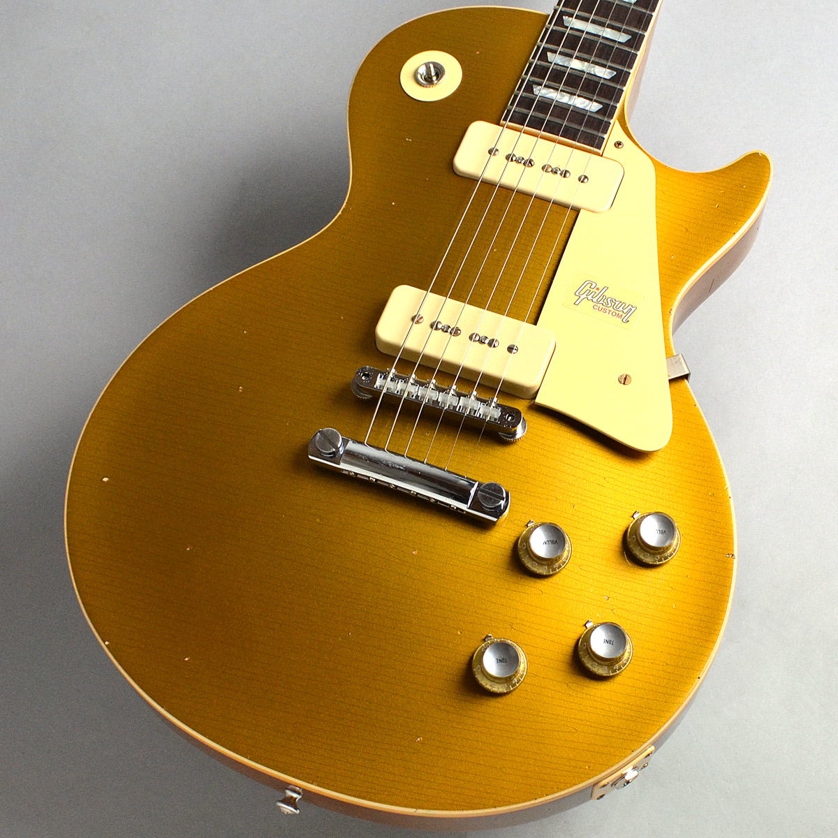 1968 Les Paul M2M Gold Top HeavyAgedのボディトップ-アップ画像
