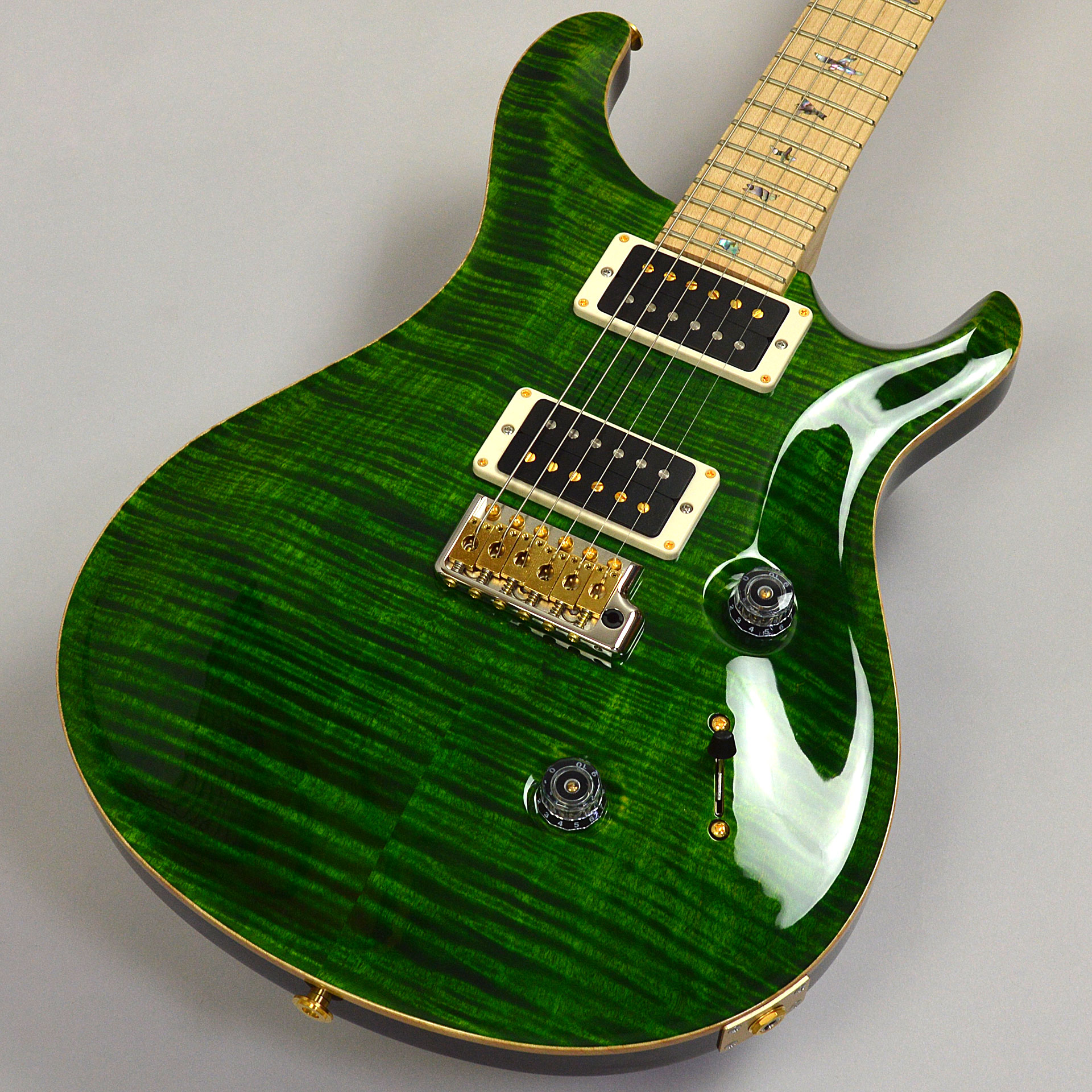 Custom 24 10-Top Flame Maple/Swamp Ash PTのボディトップ-アップ画像