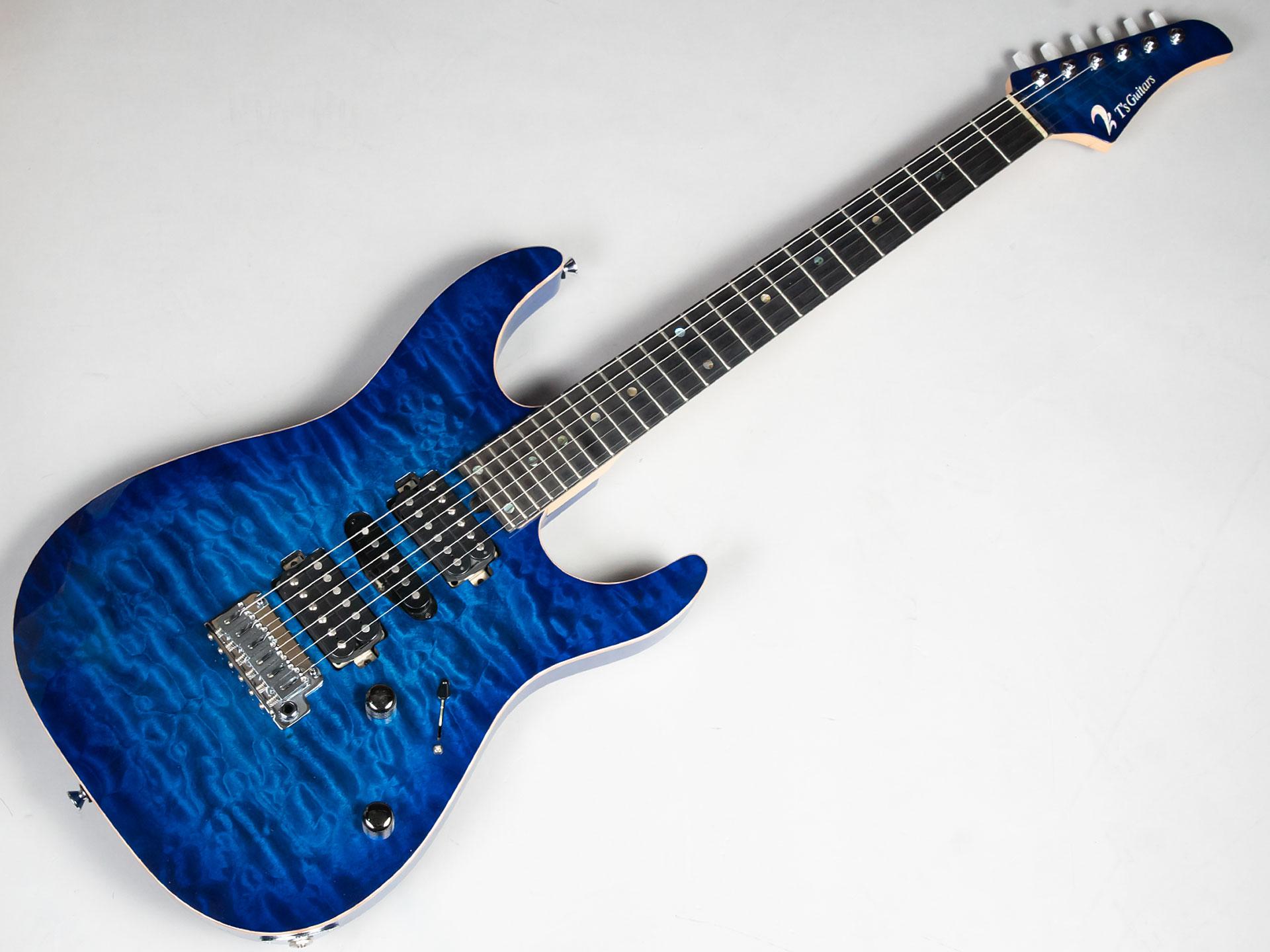 T's Guitars DST-Pro24 Quilted (Trans Blue Burst... 写真画像
