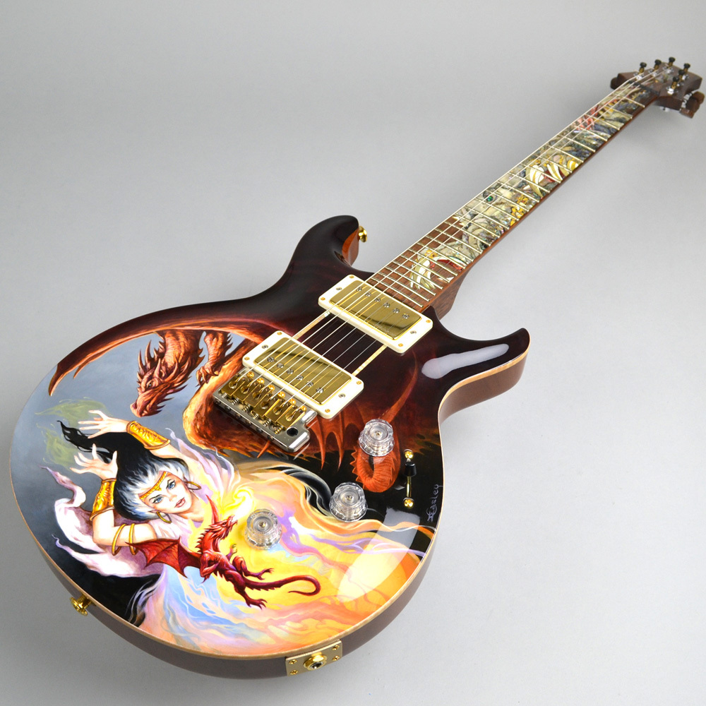 Private Stock Santana Painted Dragon 7of15 #3064の指板画像