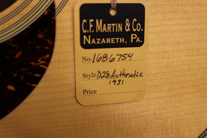 D-28 authentic 1931のケース・その他画像