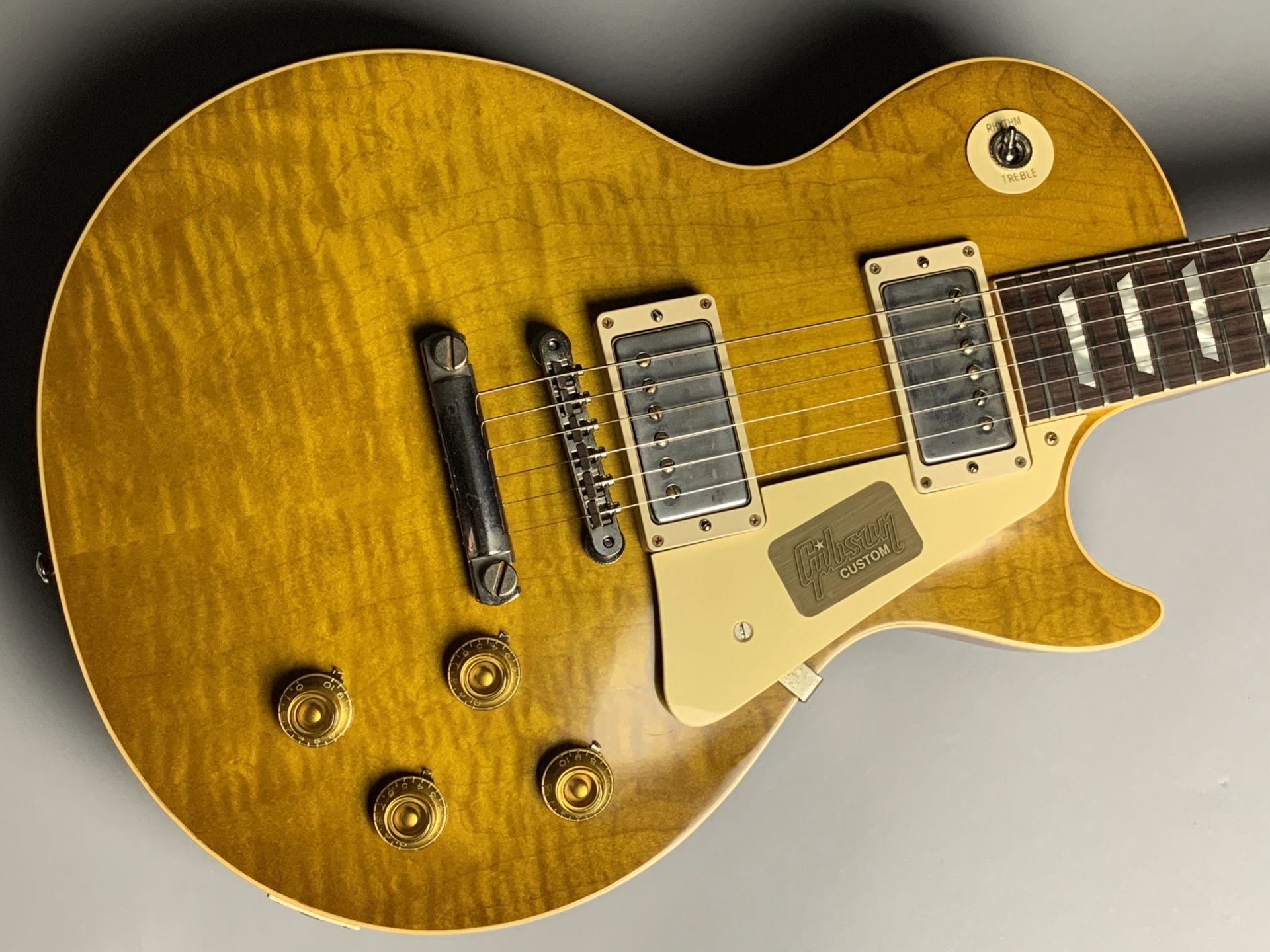 1958 Les Paul HardRock Maple VOS 2017 Limited Run (Dirty Lemon)のボディトップ-アップ画像