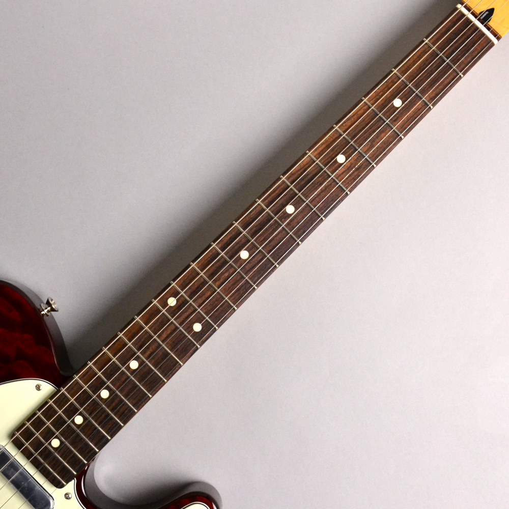 Made in Japan Hybrid 60s Telecaster Quilt Top Transparent Redの指板画像