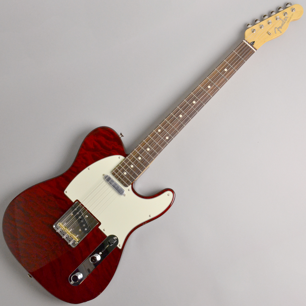 Made in Japan Hybrid 60s Telecaster Quilt Top Transparent Red