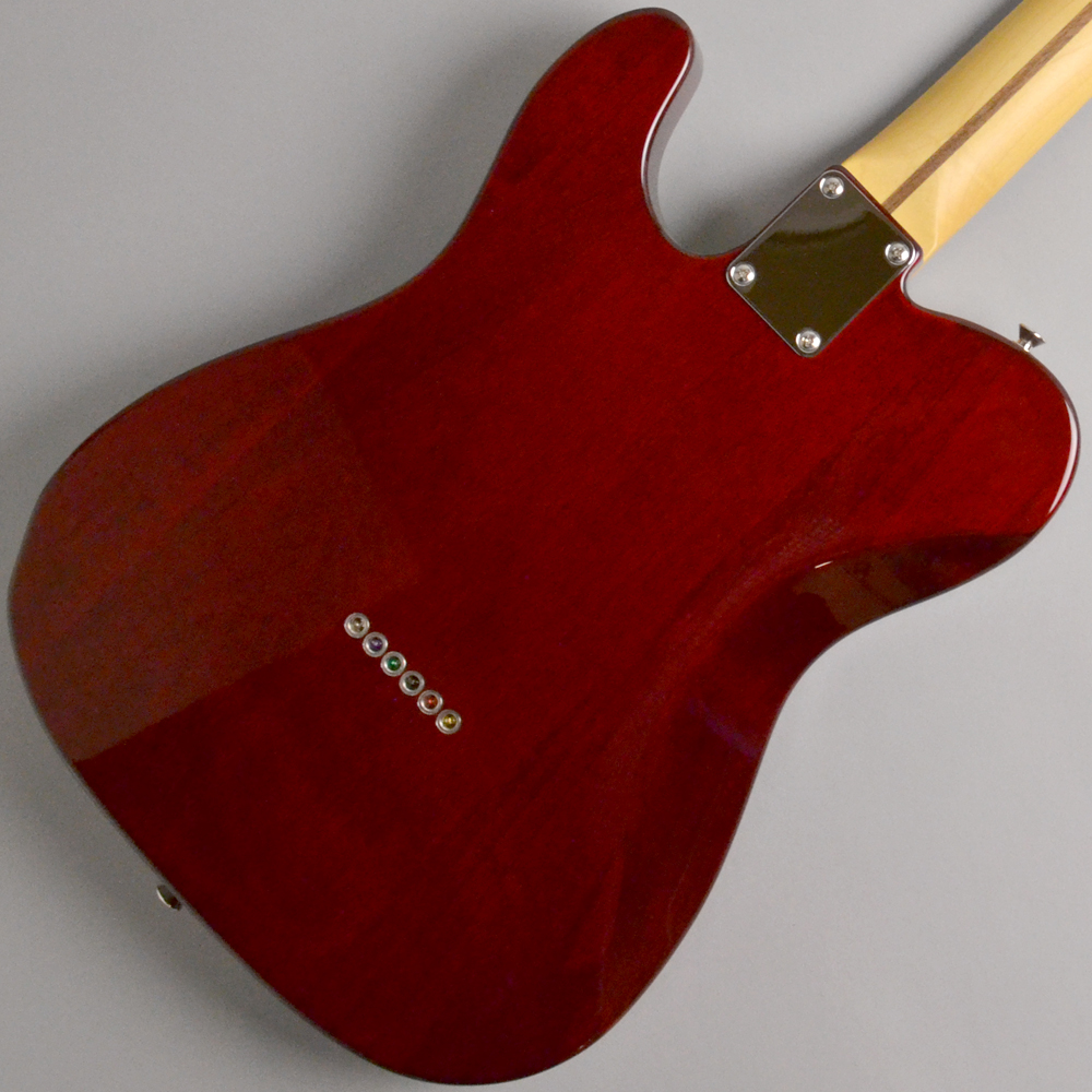 Made in Japan Hybrid 60s Telecaster Quilt Top Transparent Redのボディバック-アップ画像