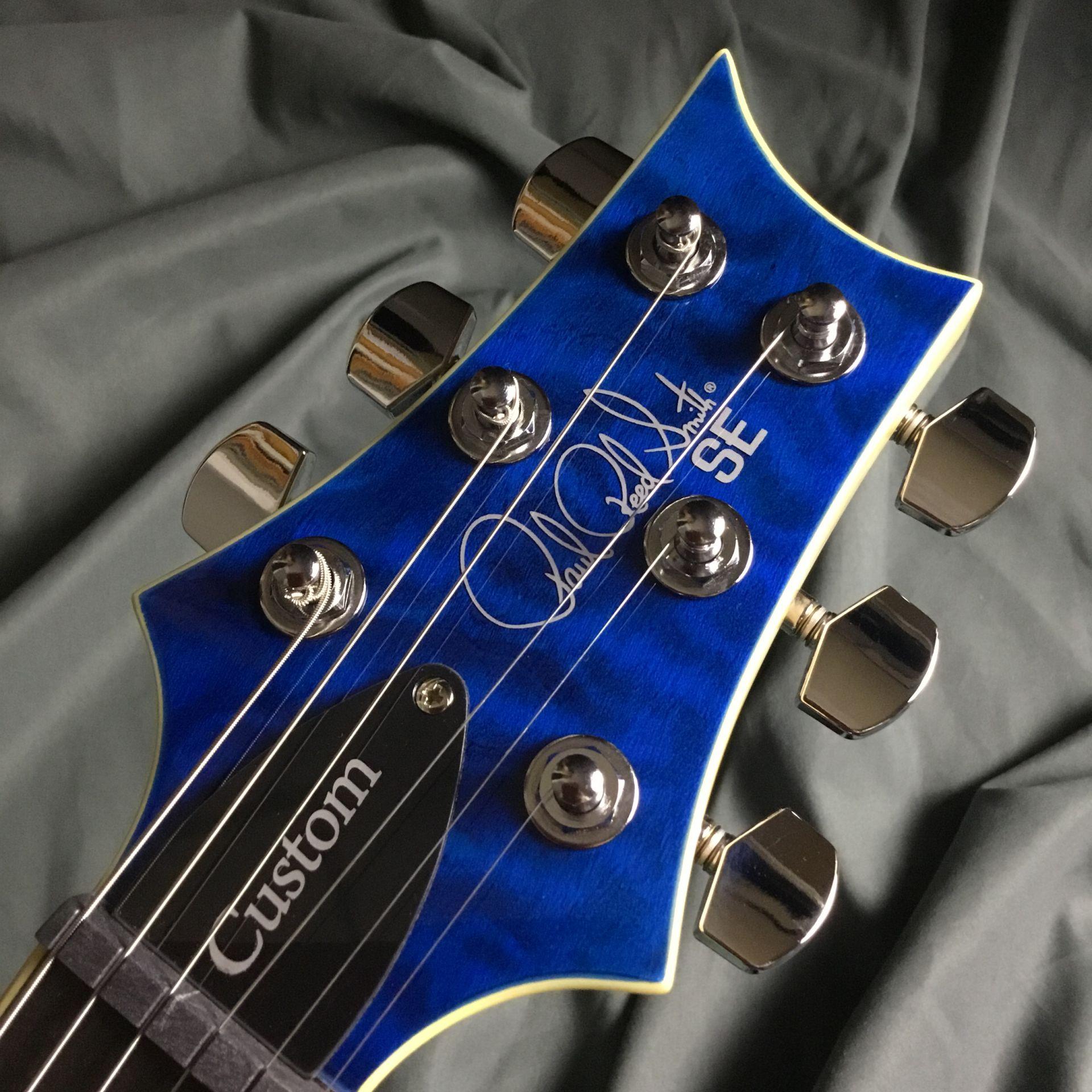 SE CUSTOM 24 QM LTD  Blue Matteo 島村楽器オリジナルモデルのヘッド裏-アップ画像