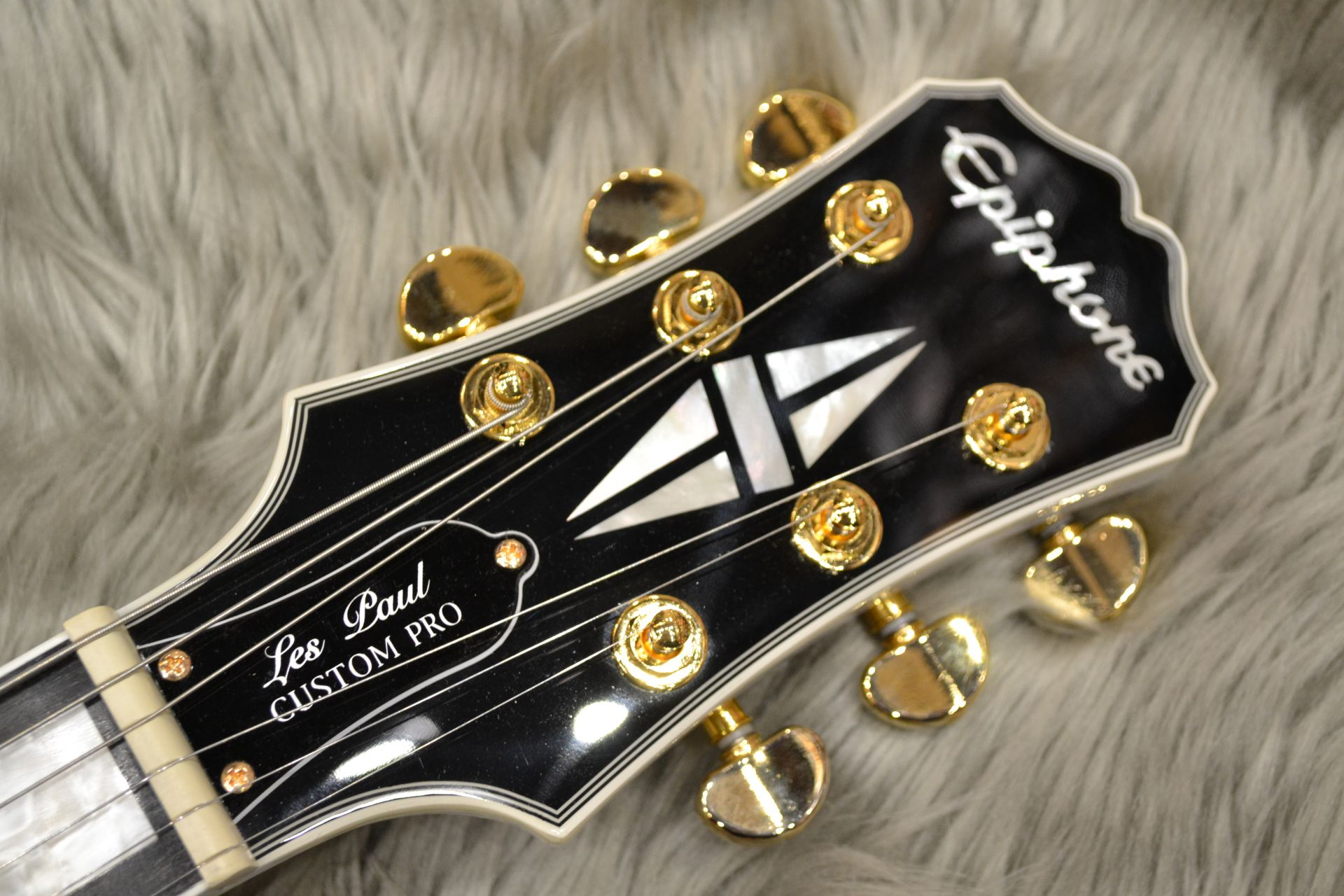 Les Paul CUSTOM PRO (ProBuckers&Coil-Tapping)のヘッド画像