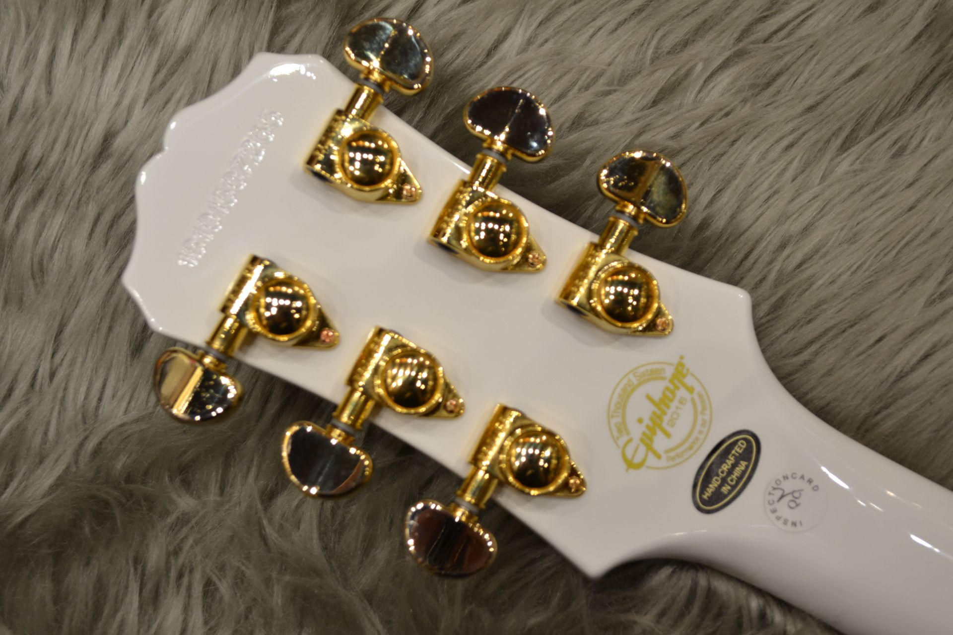 Les Paul CUSTOM PRO (ProBuckers&Coil-Tapping)のヘッド裏-アップ画像