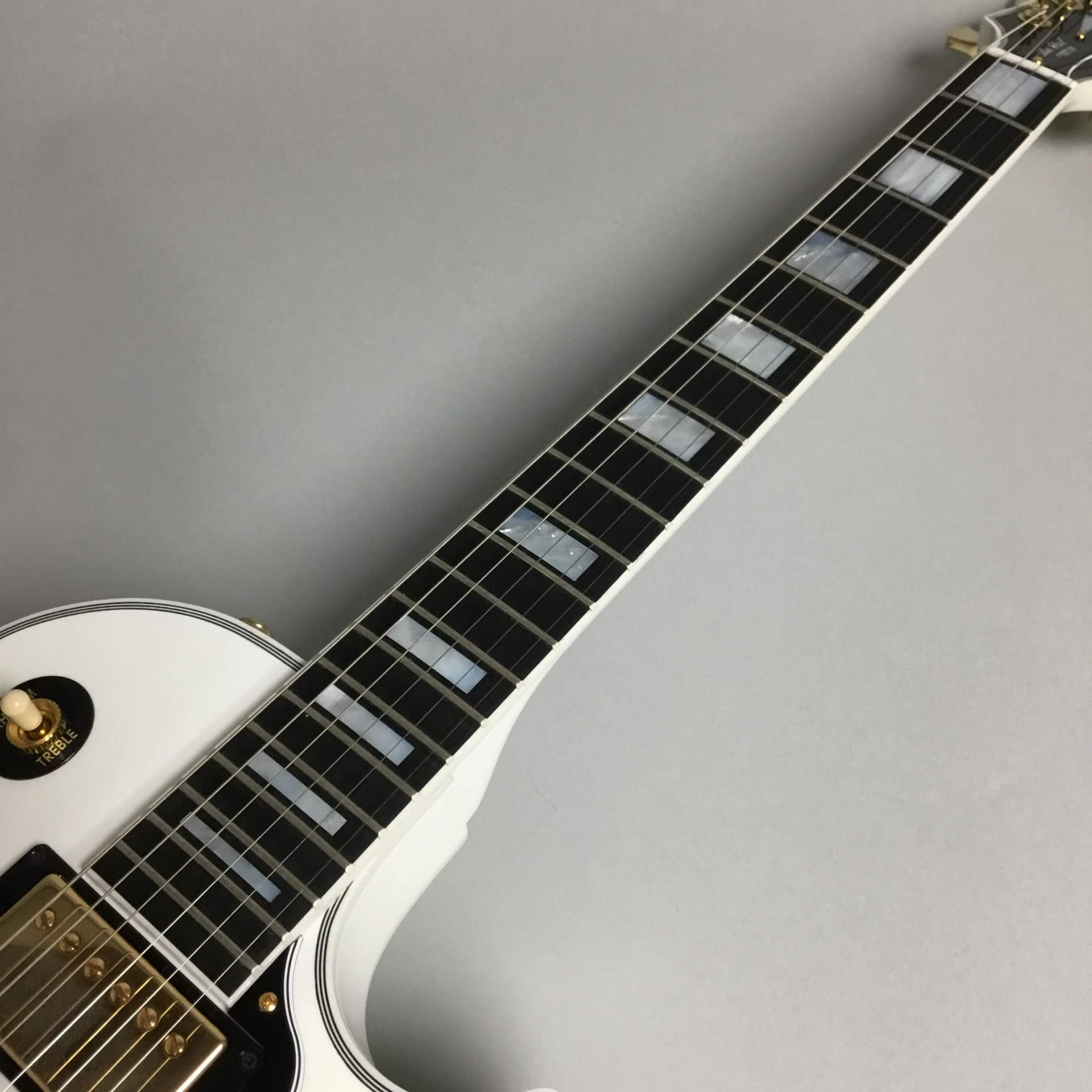Les Paul Custom Alpen Whiteの指板画像