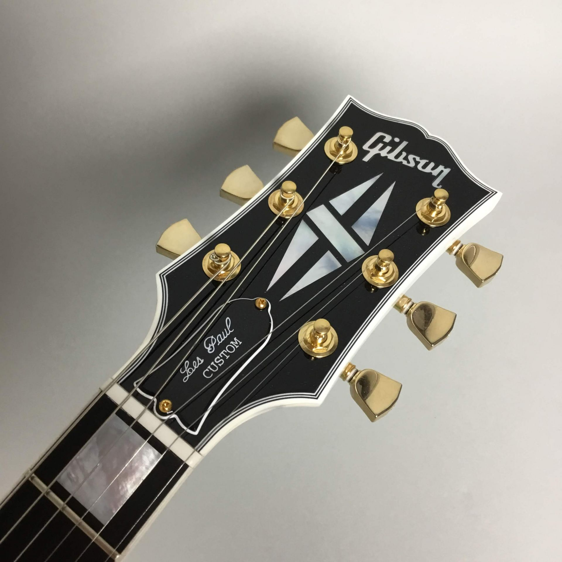 Les Paul Custom Alpen Whiteのヘッド画像