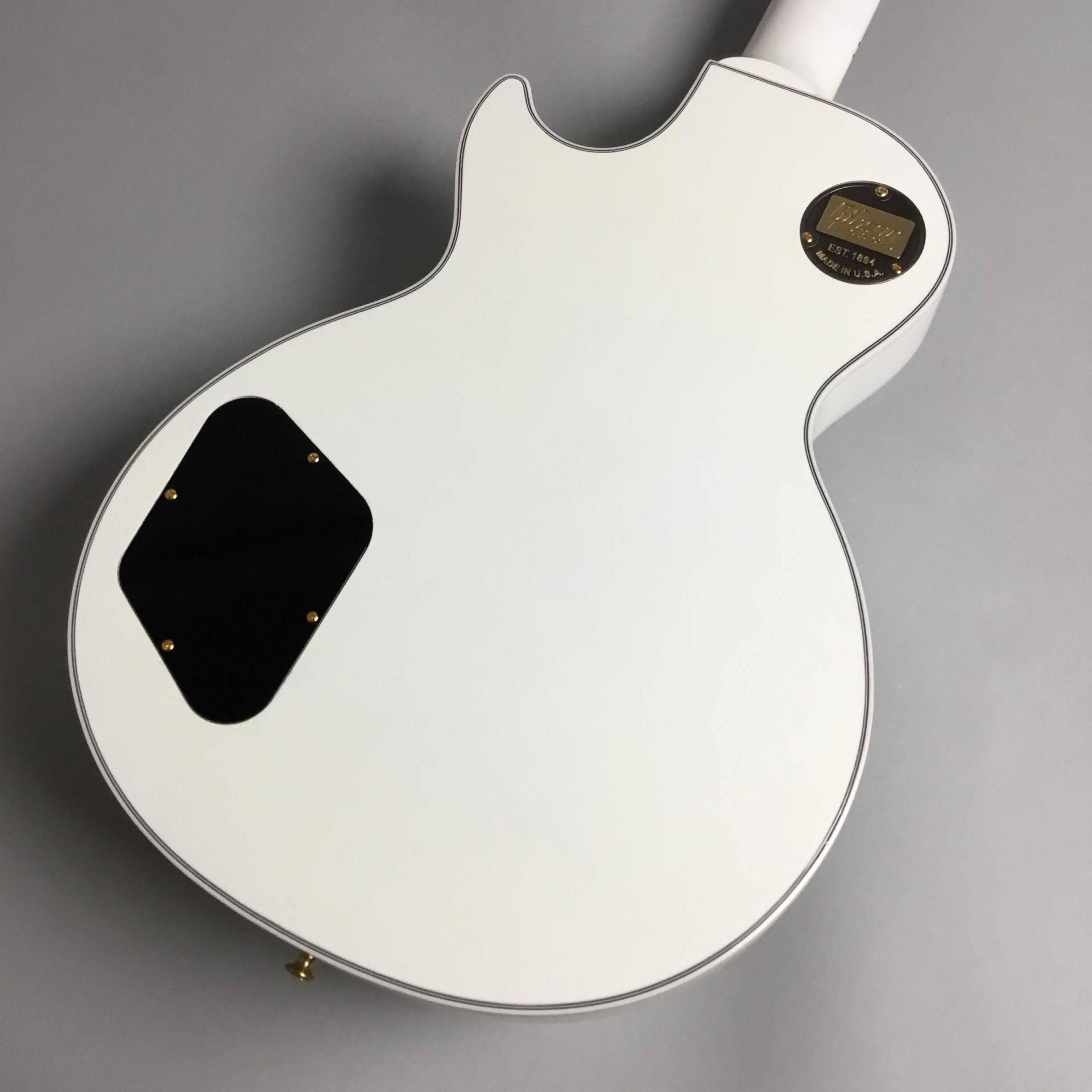 Les Paul Custom Alpen Whiteのボディバック-アップ画像
