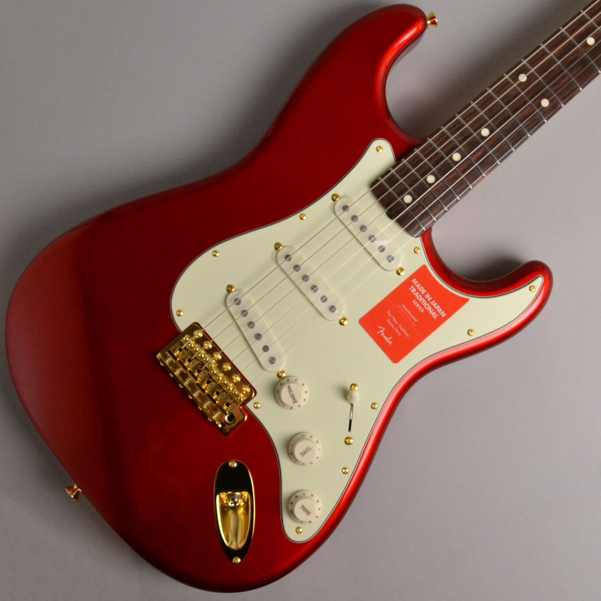 MADE IN JAPAN TRADITIONAL 60S STRATOCASTER GH Candy Apple Redのボディトップ-アップ画像