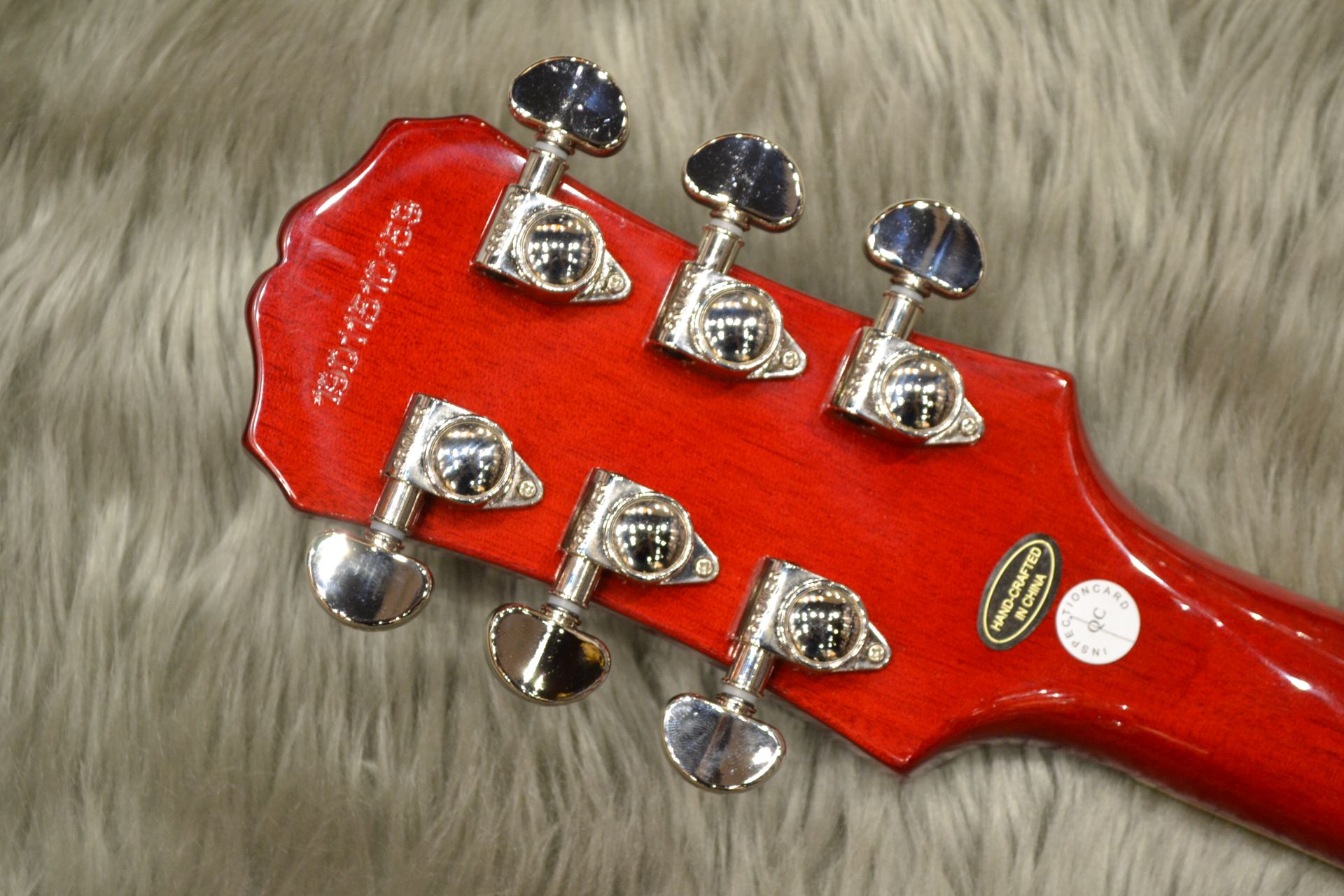 Les Paul STANDARD PLUS-TOP PRO (Probuckers&Coil-Tap)のヘッド裏-アップ画像