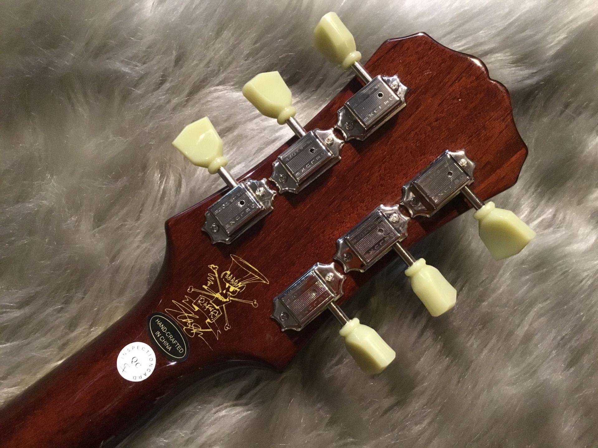 Slash Les Paul Standardのヘッド裏-アップ画像