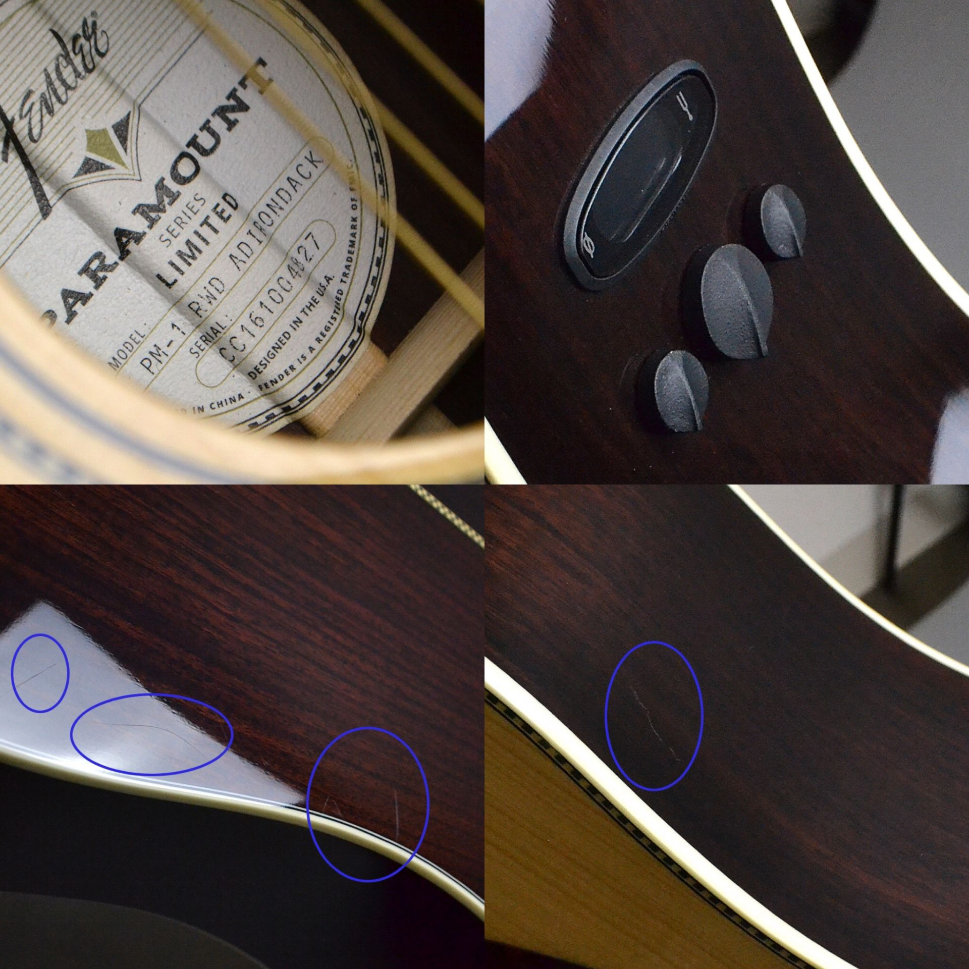 Paramount Series PM-1 Limited Adirondack Dreadnought Rosewood Natural (N) 【S/N:CC161004827】のケース・その他画像