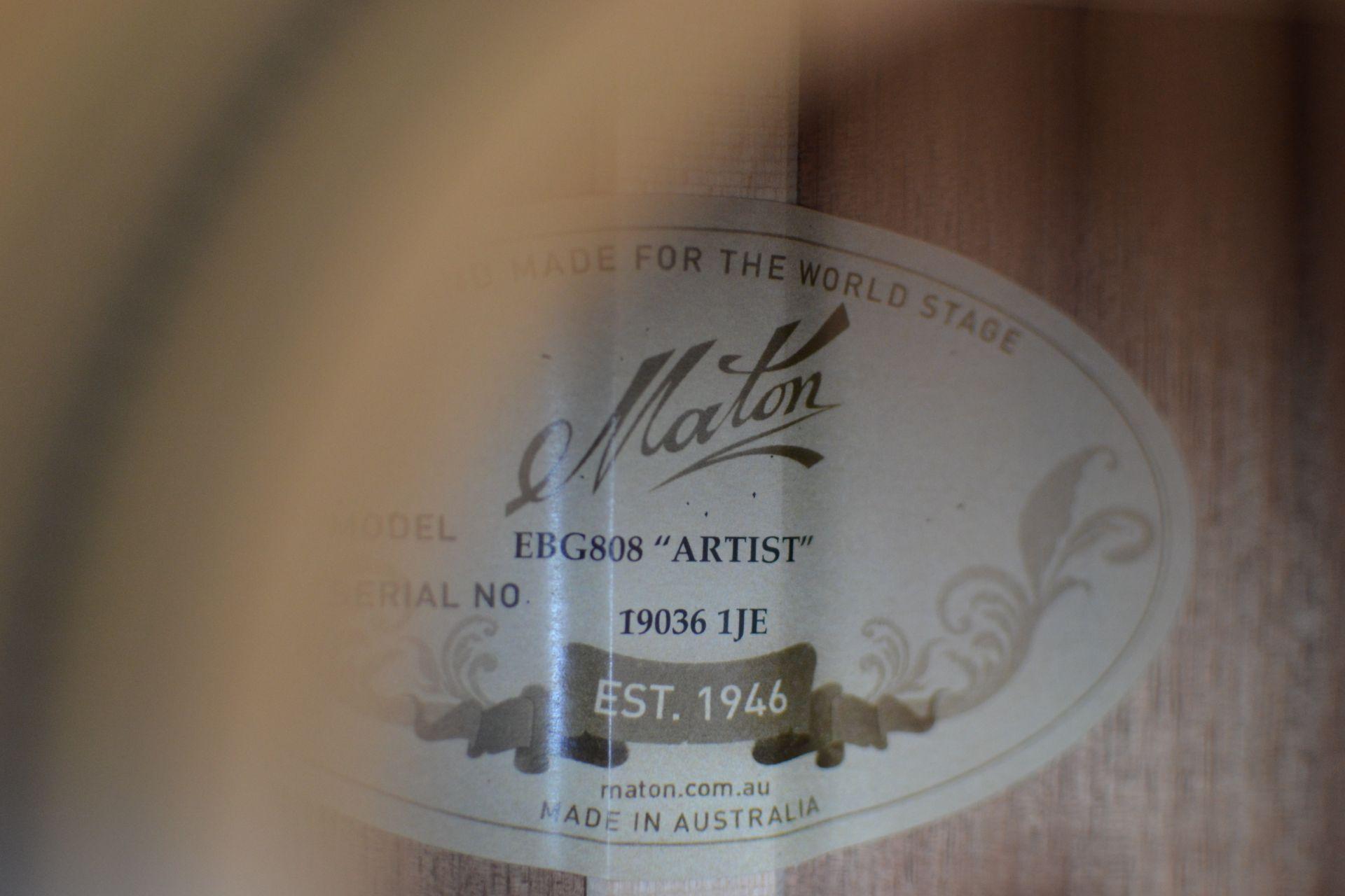 EBG808 ARTISTの指板画像