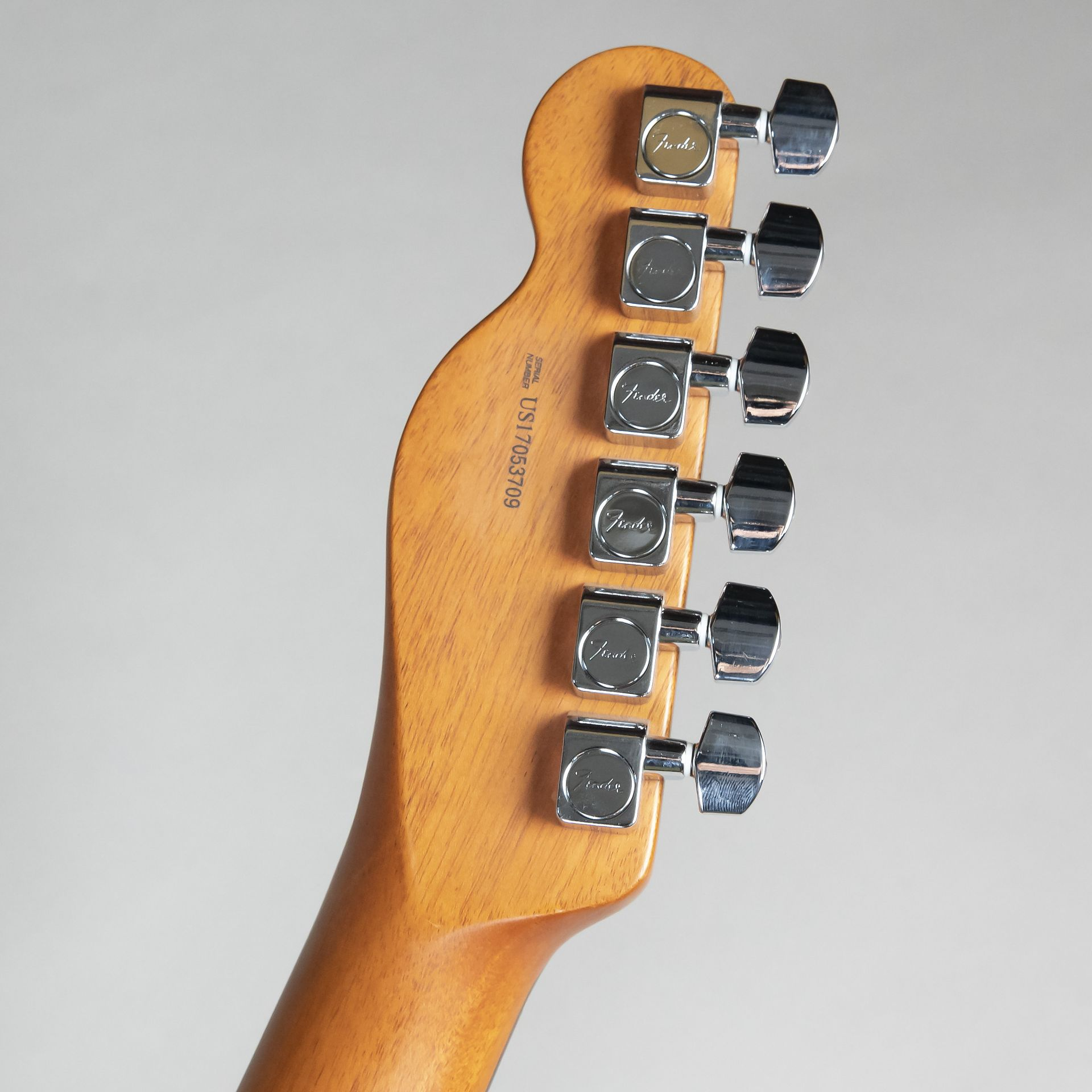 2017 LIMITED EDITION AMERICAN PROFESSIONAL MAHOGANY TELE DELUXEのヘッド裏-アップ画像