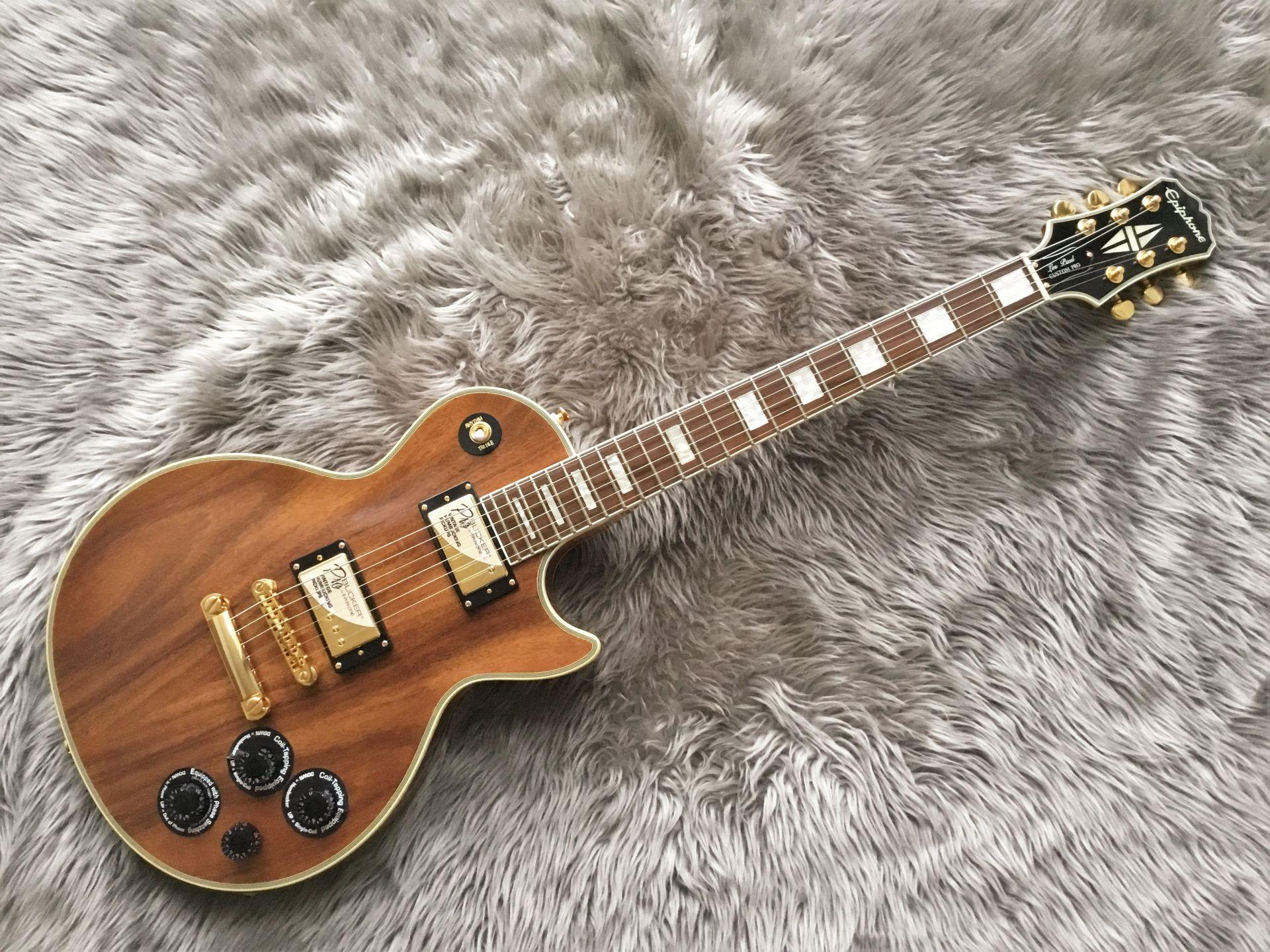 LTD Les Paul Custom PRO KOAのボディトップ-アップ画像