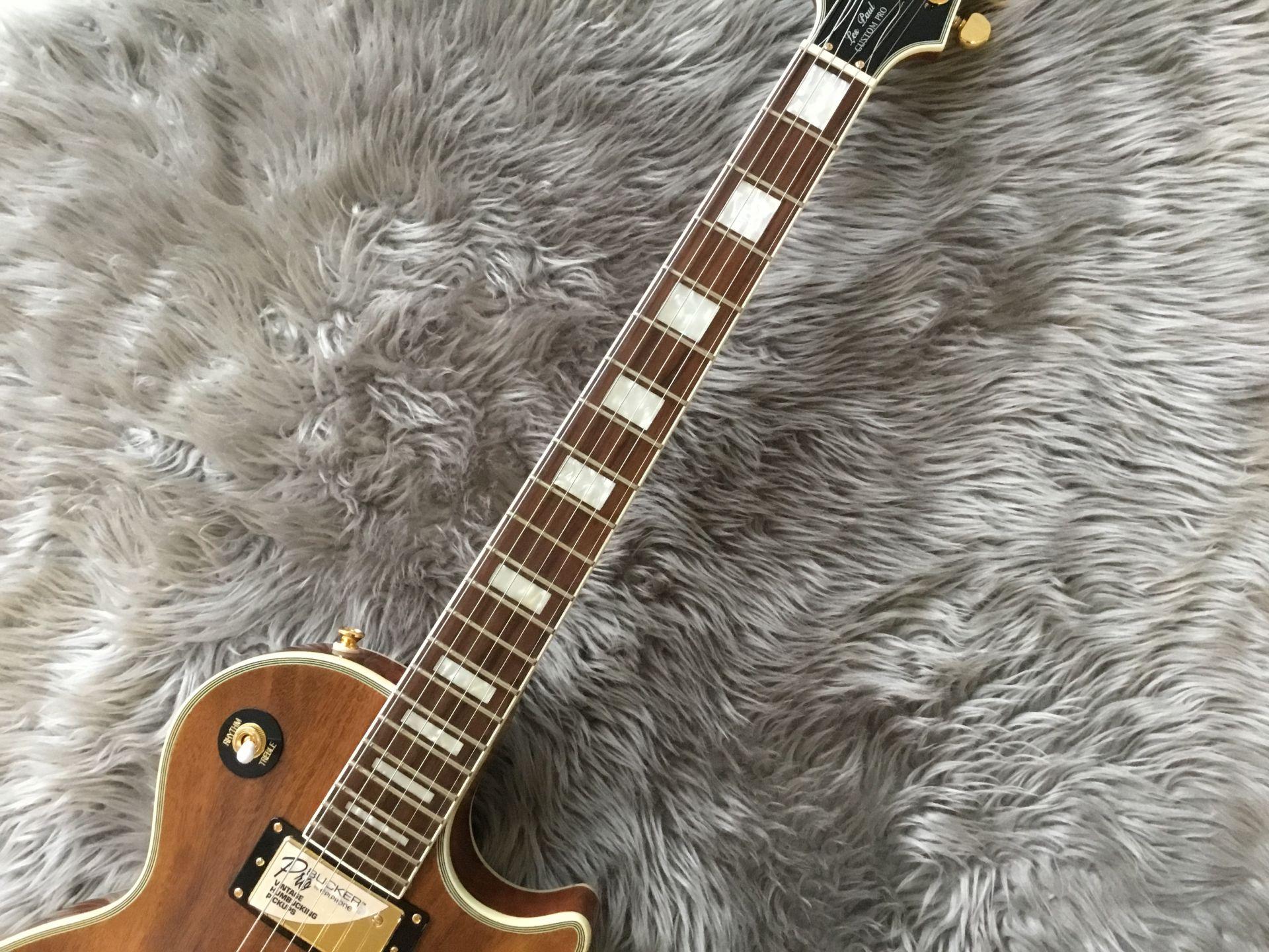 LTD Les Paul Custom PRO KOAの指板画像