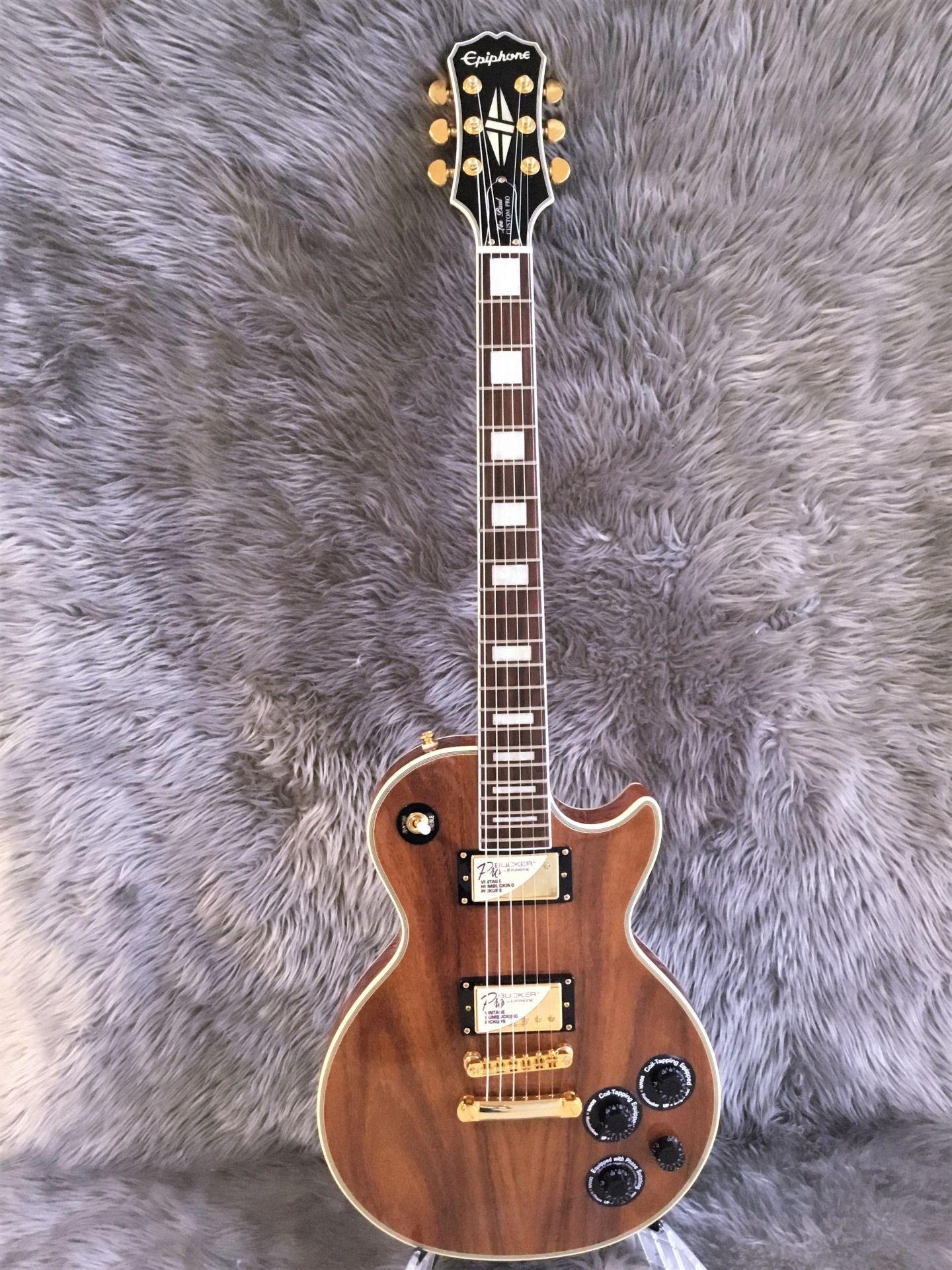LTD Les Paul Custom PRO KOAの全体画像(縦)