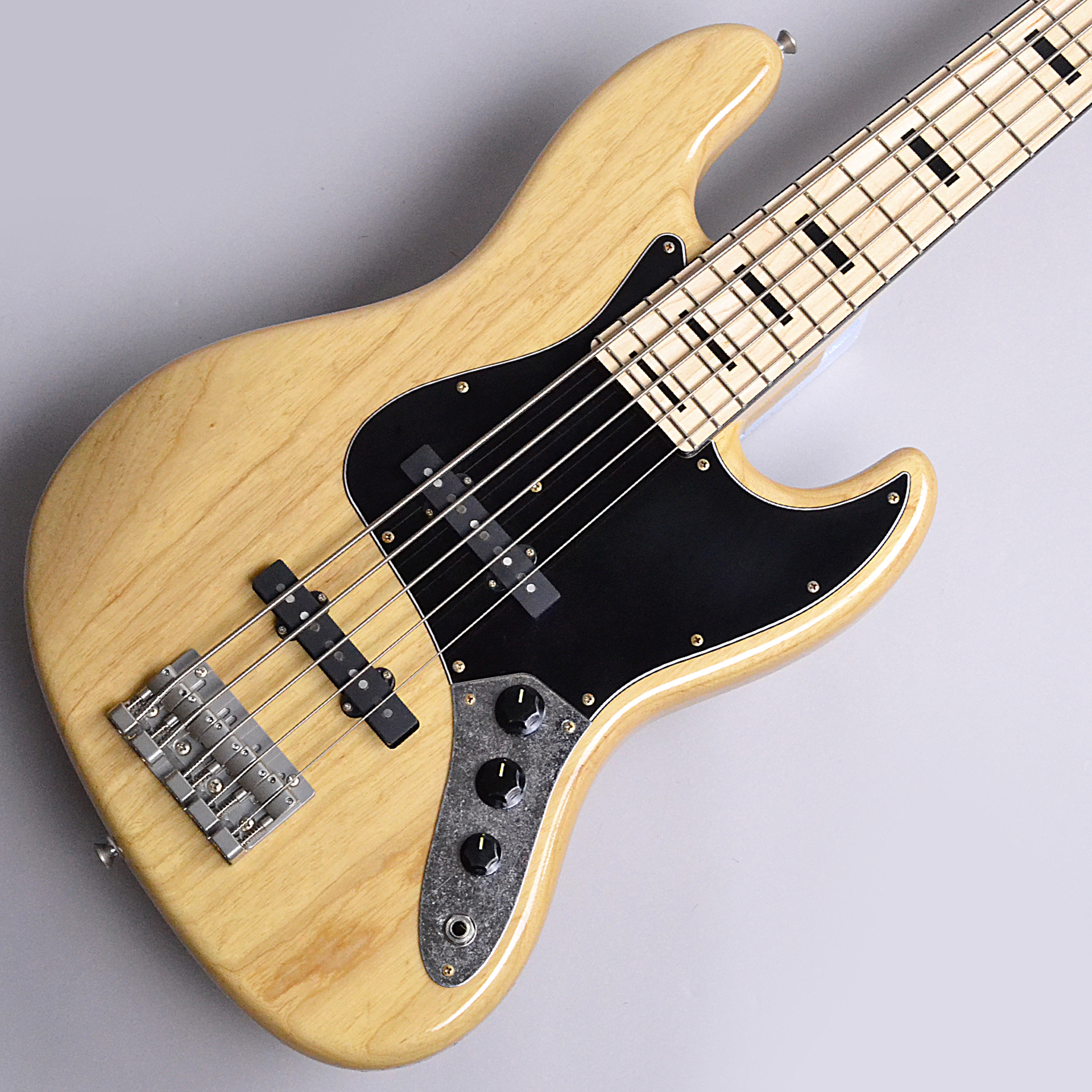 HR-BJ5/M Ash Natural Rugged Finished Looks Like Oldのボディトップ-アップ画像