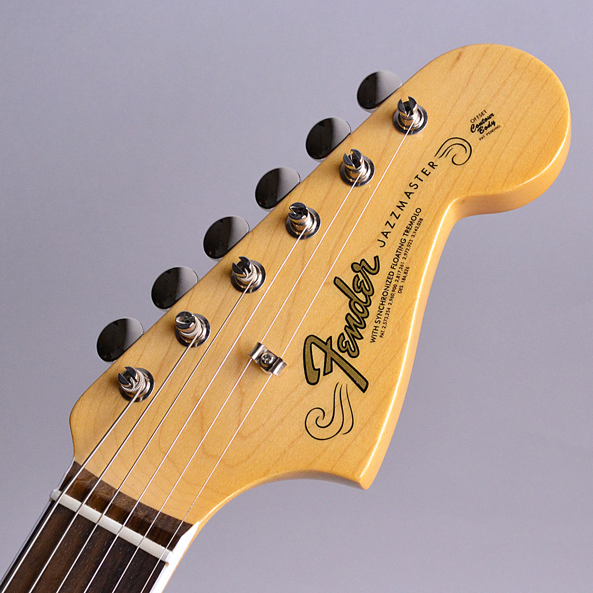 American Original 60s Jazzmaster Rosewoodのヘッド裏-アップ画像