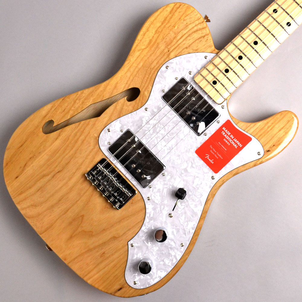 MADE IN JAPAN TRADITIONAL 70S TELECASTER THINLINE Naturalのボディトップ-アップ画像