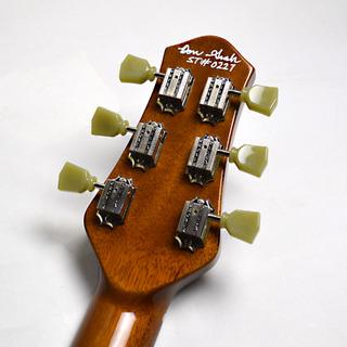 Set Neck Custom Vintage Maple Burstのヘッド裏-アップ画像