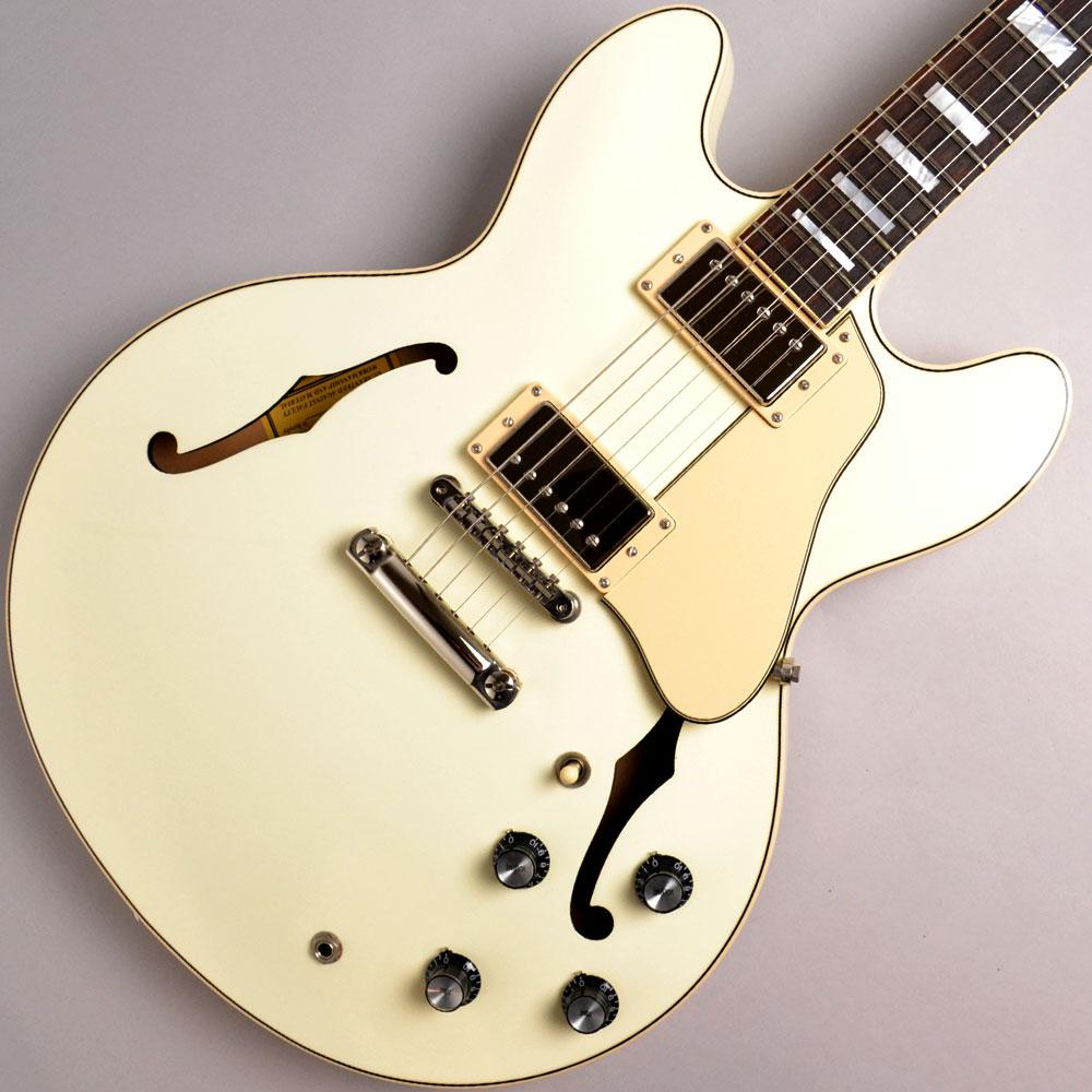 ES-335 Big Block Retro Classic Whiteのボディトップ-アップ画像