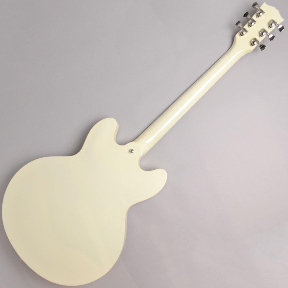 ES-335 Big Block Retro Classic Whiteの全体画像(縦)