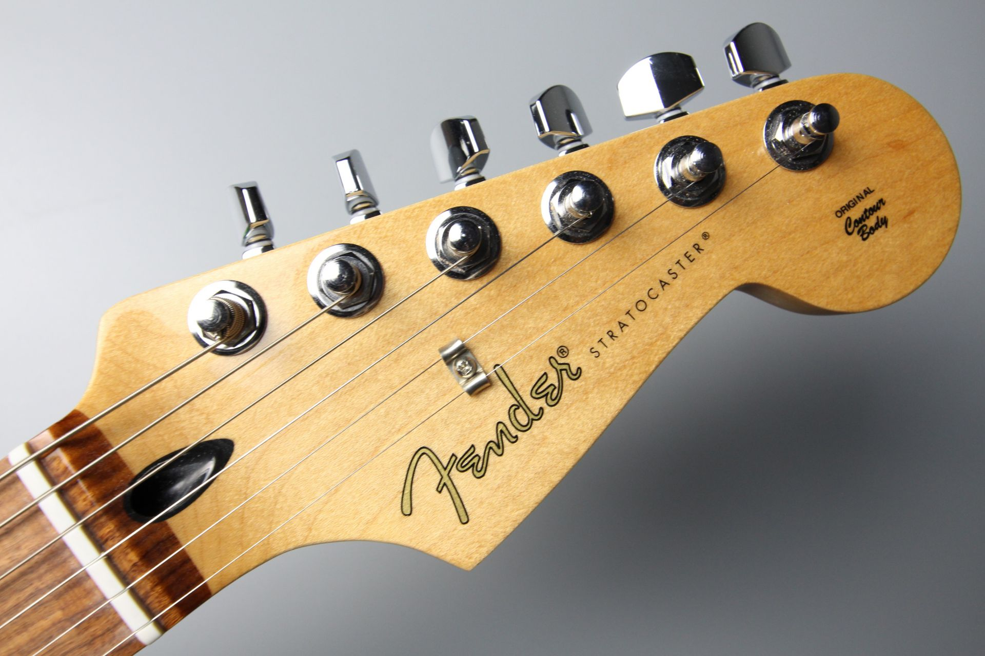Player Stratocaster Silverのヘッド画像