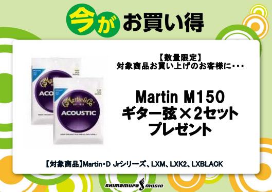 Martin M150x2セットプレゼント