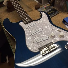 基本調整をする前のギター
