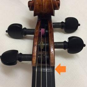 ヴァイオリンのナット